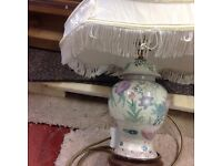 2 Table lamps with Japanese design 1 large and 1 small