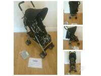 Obaby atlas scribbles stroller with raincover
