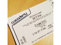 Band of horses ticket @ 02 Academy Bristol tomorrow (21/02/17)