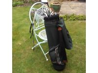 MacGregor Golf Bag plus clubs, golf balls, tees etc.