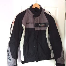 Dainese textile motorcycle jacket with free matching trousers. (dodgy zip on trousers hence free