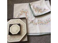 Johnson Eternal Beau Table cloth, Napkins, Place mats & Coasters.