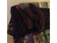 Furry next brown faux fur fluffy large floor cushions