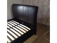 Genuine Leather Double Bed Frame