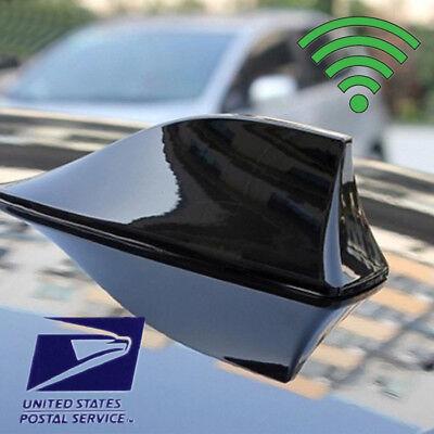 Black Car Shark Fin Universal Roof Antenna Radio FM/AM Decorate Aerial