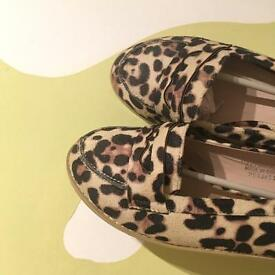 BNWT ASOS LEOPARD PRINT LOAFERS SIZE 6