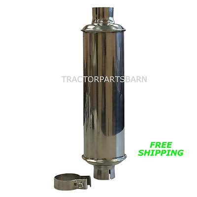 John Deere 1010 330 420 430 435 440 Polished Stainless Muffler At10646 At10646t
