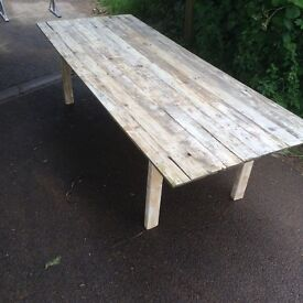 Reclaimed Wood Patio Table Top Replacement. Various SIzes.