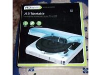 PROLECTRIX USB TURNTABLE - TRANSFERS VINYL RECORDS DIRECT TO YOUR PC VIA USB