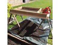 Home made electric garden sieve
