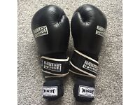 Boxing gloves and wraps fighter martial arts