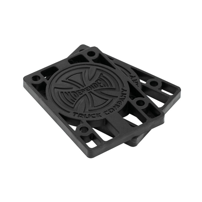 "Independent Trucks Skateboard Risers 1/8"" Black (Pair) Riser Pads (hard)"