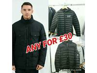 STONE ISLAND ARMANI MONCLER JACKETS NEW ALL SIZES