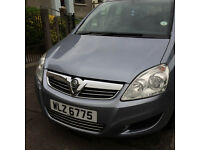 VAUXHALL ZAFIRA BREEZE november 2008 1.6 PETROL 68,000 MILES. ONE PREVIOUS OWNER.