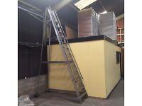 14 tread aluminium warehouse ladders
