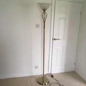 Brass standard lamp