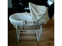 Mamas and Papas moses basket rocking stand bundle