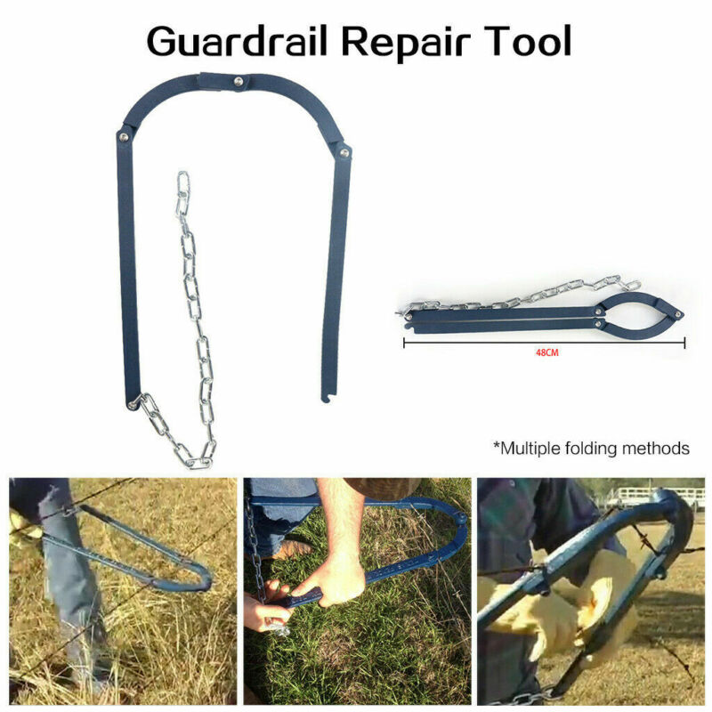 Chain Fencing Strainer Fence Fixer Tool Plain & Barbed Wire Strainer Repair Tool