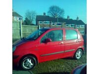 Daewoo Matiz 1.0 se+ Low milege for year 2004