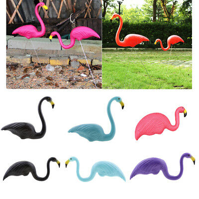 Plastic Pink Flamingo Lawn Figurine Garden Grassland Decor Ornament 5 Colors