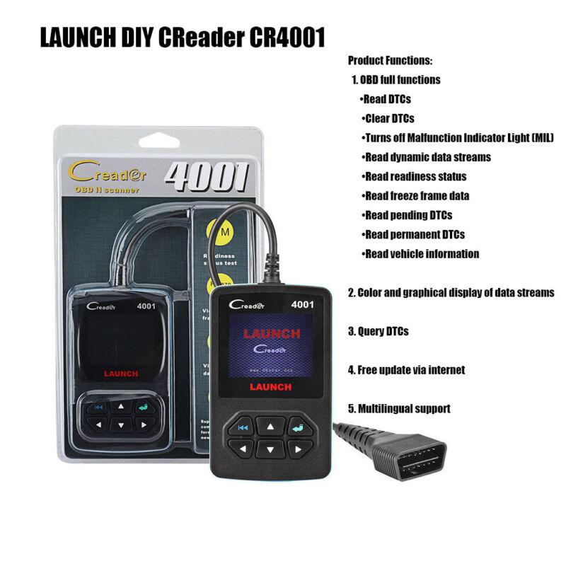 Launch Creader 4001 Obd2 Scanner Diagnostic Tool Car Code Reader Update Online