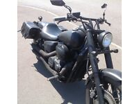 2011 Honda black shadow now a single seater.just passed Moter till 31/1/18
