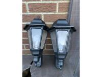 Sensor Exterior Garden Lamps x2 Inc Bulbs £10 For Both Wallsend