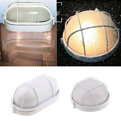 4X Vapor-proof Sauna/ Steam Room Light/Lamp with Metal Guard Accessory Round