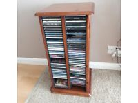 Wooden swivel cd and dvd unit