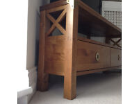 Laura Ashley Corner Media TV Unit - IMMACULATE as new - Television/DVD corner unit *delivery*