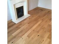Engineered oak flooring brushed and oiled 14mm brand new 20.5 square meters