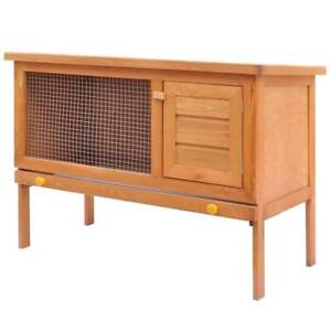 vidaXL Outdoor Rabbit Hutch 1 Layer Wood(SKU:170157)Free Delivery* Mount Kuring-gai Hornsby Area Preview