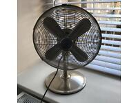 "Large 14"" Oscillating Chrome Fan"