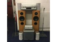 Technics 5.1 surround sound + Eltax floor standers and sub