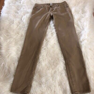 Celebrity Pink Womens Pants Beige Low Rise Khakis Chinos Full Length Tall 7 L