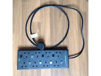 8 Socket, Individually Switched Surge Protected Extension Lead, 2m Lead