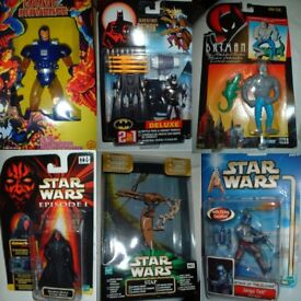Vintage toy collection for sale, many items inc Star Wars, Batman, model kits, Terminator
