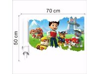 3D Paw Patrol Removable Wall Sticker, BRAND NEW, 50x70cm, design 2