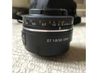 Sony 1.8 / 50mm fixed lens.
