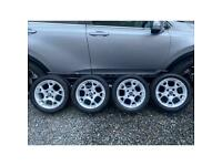 """Ford Fiesta 15"""" alloys with tyres mk7"""