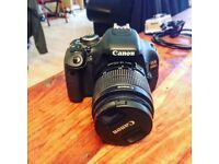 Canon EOS 600D Digital SLR Camera w/Case, Charger, 16GB Memory Card and Spare Battery