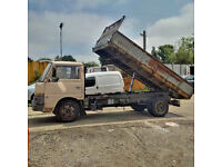 Left hand drive Nissan Cabstar BH40 3.5 Ton 6 tyres 3 way tipper. Steel body.