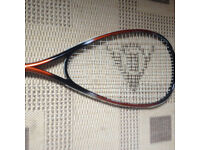 A squash racket, immaculate, quick sale at only £10, no time wasters please