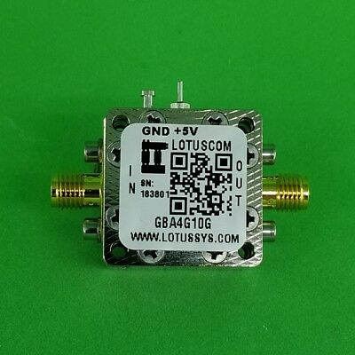 Gain Block Amplifier 3.5db Nf 4g To 10ghz 15db Gain 13dbm P1db Sma