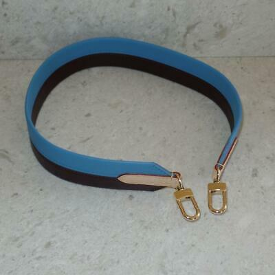 Louis Vuitton Leather Blue Brown Side Shoulder Strap for Cluny MM Bag Speedy