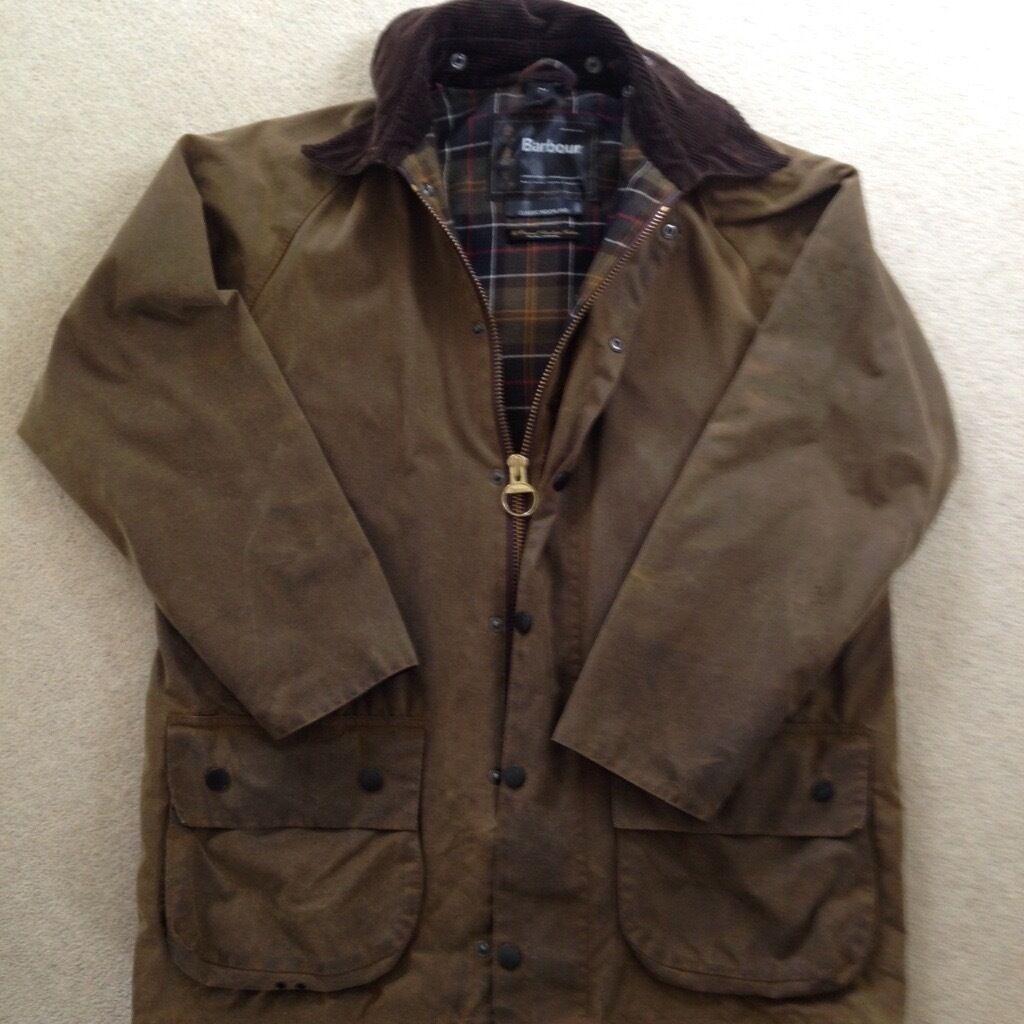 Barbour Classic Moorland Brown Wax Cotton Jacket 40 42