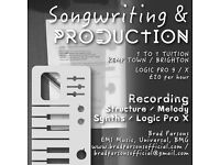 SONGWRITING // PRODUCTION // MUSIC // SERVICES // LESSONS // LOGIC PRO X //BEGINNERS // INTERMEDIATE