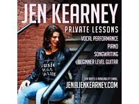 Vocal Coaching/ Songwriting/Piano/Beginner Level Guitar
