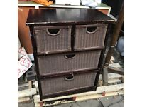 Chest of drawers - brown cane