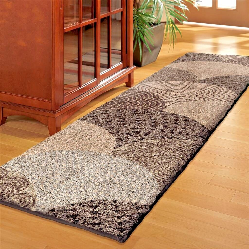 High Quality Very Plush Beautiful Modern Area Rug   Shades Of Black Gray  White U0026 Cream ~